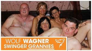 Old swingers! Ugly grannies and grandpas pleasure each other! WOLF WAGNER